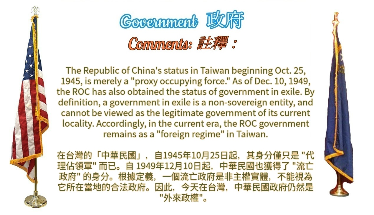 SCRIPT The ROC/Taiwan Sovereignty Question Personnel