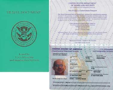 Refugee Travel Document Us Visa